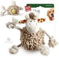 фото GiGwi Игрушка для собак Жираф с теннисным мячом