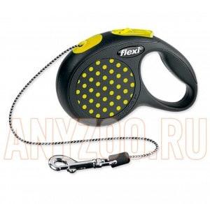 фото Flexi Design Рулетка Флекси Дизайн для собак и кошек  XS 3м*8кг (трос)
