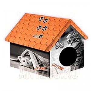 фото PerseiLine Персилайн Дизайн домик для животных Кошка с газетой