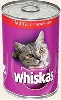 фото Whiskas - Вискас консервы для кошек паштет с говядиной