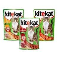 фото KiteKat - Китикет Промонабор Пауч для взрослых кошек 100гр
