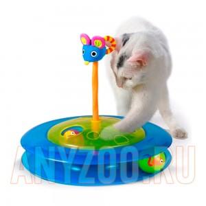 """Купить Petstages Игрушка """"Трек с двумя мячиками""""  для кошек, арт.25006"""