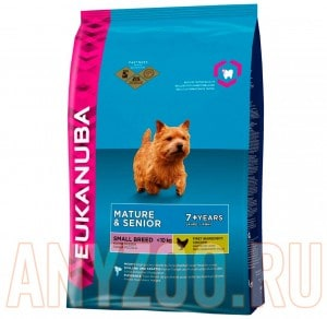 фото Eukanuba Dog Mature/Senior small breed  Эукануба корм для стареющих и пожилых собак мелих пород.