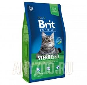 фото Brit Premium Cat Sterilized - Брит для стерилизованных кошек и котов с Курицей и куриной печенью