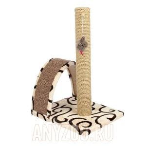 PerseiLine Персилайн Дизайн когтеточка столбик с дугой и игрушкой