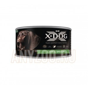 фото X-Dog Икс-Дог Консервы для собак Ягнёнок со шпинатом