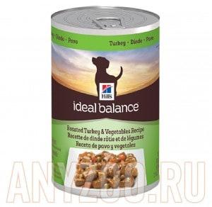 Купить Hills Ideal Balance Хиллс Беззерновой консервированный корм для собак Индейка/овощи