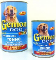 фото Gemon - Гемон консервы для собак кусочки в соусе Тунец 1260гр