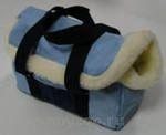 Догман Сумка-переноска теплая с мехом, с отверстием д/головы 4М синяя 33...
