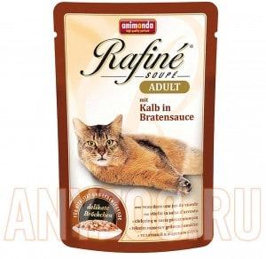 фото Animonda Rafine Soupe Adult пауч для кошек коктейль из телятины в жареном соусе