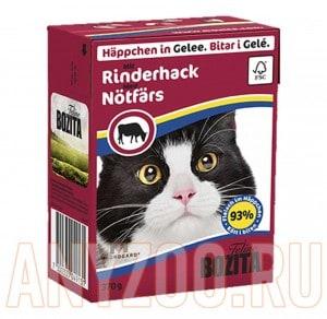 Купить Bozita Tetra Pak кон.д/кошек Кусочки в желе Рубленая Говядина