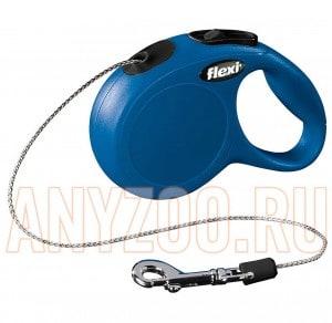 фото Flexi New Classic Рулетка Флекси Новая Классика трос, для собак до 12 кг 8м