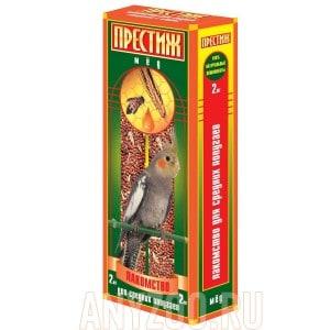 фото Престиж Жесткие палочки лакомство для средних попугаев с мёдом