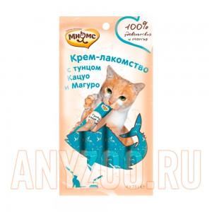 Купить Мнямс Крем-лакомство для кошек с тунцом Кацуо и Магуро