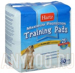 Купить Hartz Training Pads Пеленки впитывающие для щенков и собак, 56*56см