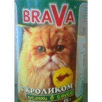 брава консервы для кошек кролик