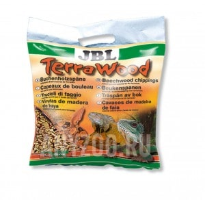 фото JBL TerraWood Буковая щепа, натуральный донный субстрат для сухих и полусухих террариумов