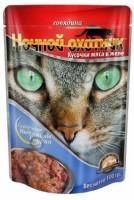Ночной охотник консервы для кошек говядина в желе