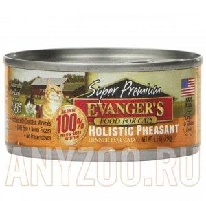 фото Evangers Dinner Holistic Pheasant консервы для кошек Обед беззерновой с Фазаном