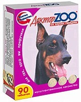 Доктор Зоо витамины для собак со вкусом Говядины