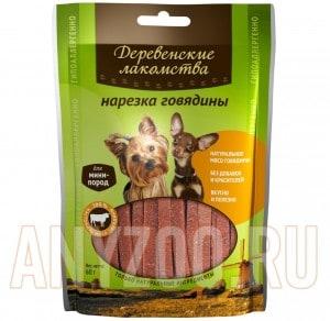 Деревенские лакомства для собак мини-пород Нарезка из говядины