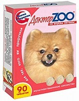 Доктор Зоо витамины для собак со вкусом Ветчины