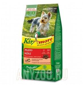 фото Kiramore Puppy Mini Кираморе сухой корм для щенков мелких пород с мясом молодых бычков
