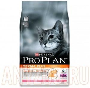 фото Pro Plan Derma Plus Про План Дерма сухой корм для кошек с чувствительной кожей и шерстью Лосось