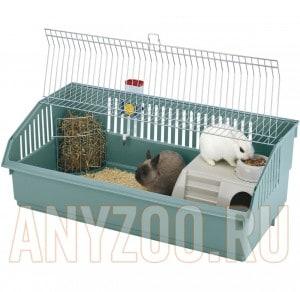 фото Ferplast Клетка для кроликов Rabbit 100 Deluxe хром101,5*53*33,5/4