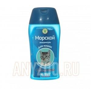 фото АВЗ Морской Шампунь для короткошерстных кошек на травах