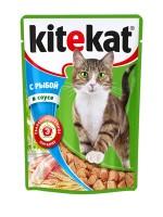 фото KiteKat - Китикет консервы для кошек Рыба в соусе (пауч)