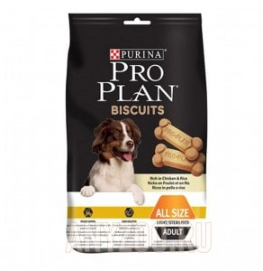 Pro Plan Biscuit Adult all size Light / Sterilised Chicken & Rice