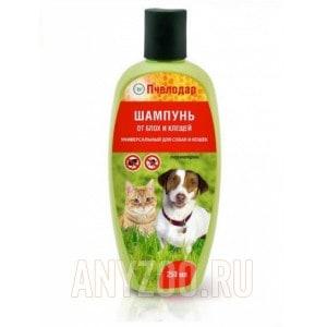Пчелодар шампунь для животных универсальный от блох и клещей