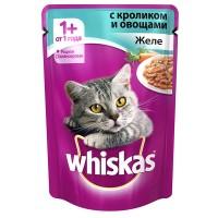 фото Whiskas - Вискас пауч для кошек Желе с кролик с овощами