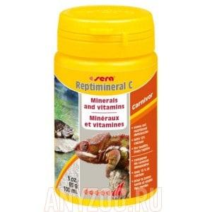 Sera Reptimineral С минералальная подкормка для плотоядных рептилий