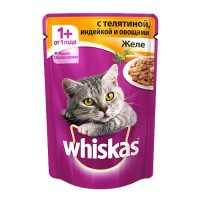 фото Whiskas - Вискас пауч для кошек Желе с индейка с овощами