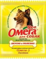 Омега Nео мультивитаминное лакомство для собак с омега-3 Биотин