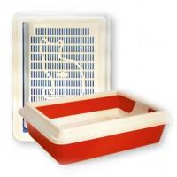 Туалет Кисс для кошек глубокий с рамкой  40,5*30*9см
