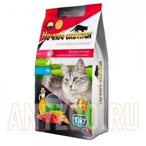 Ночной охотник сухой корм для кошек Профилактика мочекаменной болезни