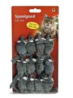 """фото I.P.T.S. 430250 Игрушка для кошек """"Мышь-погремушка"""" меховая серая 5см (блистер)"""