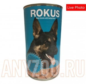 Rokus Meat chunks with turkey/duck