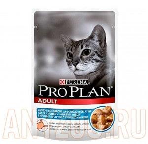 фото Pro Plan Adult Пауч для кошек Кусочки с Кроликом