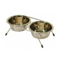 фото Triol Триол Миска из нержавеющей стали для собак двойная (Жук)