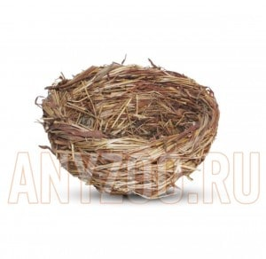 Триол гнездо для птиц плоское с ветками