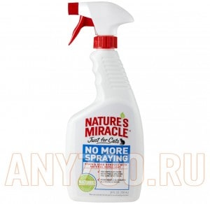 8 in 1 Nature`s Miracle  Just For Cat No More Spraying