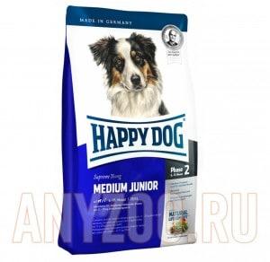 фото Happy Dog Supreme Medium Junior 25 Хэппи Дог сухой для юниоров средних пород