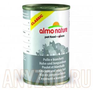 фото Almo Nature Classic Альмо Натюр Классик консервы для кошек с Курицей и Сардинками
