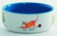 """фото I.P.T.S. 651092 Миска для кошек фарфоровая """"Играющие кошки"""" 250мл*11,5см"""