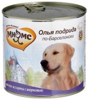 Мнямс Консервированный корм для собак Олья Подрида по-Барселонски,  мясное ассорти с морковью