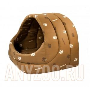 Дарелл Домик мягкий Лукошко для собак и кошек, коричневый